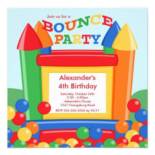 Birthday Invitations Bounce Balls