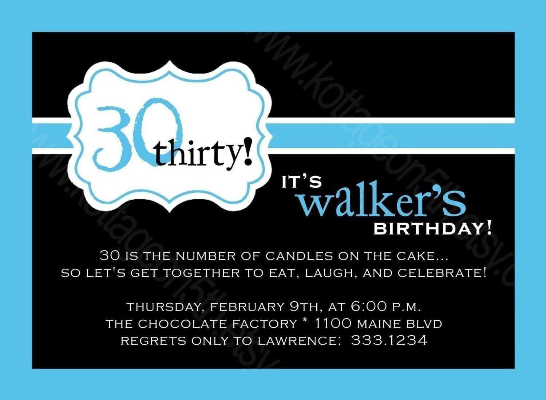 Birthday Invitations For Mens 30th