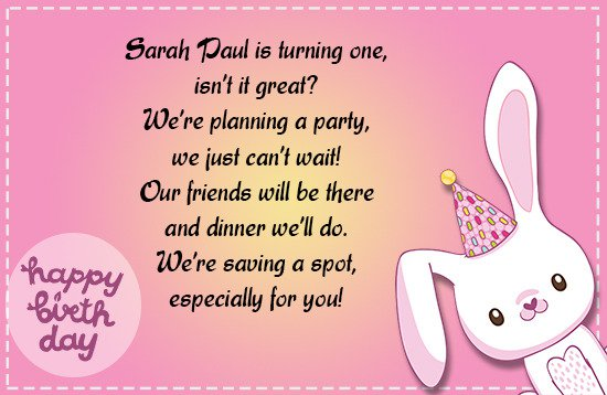Birthday Invitations Wording Given By
