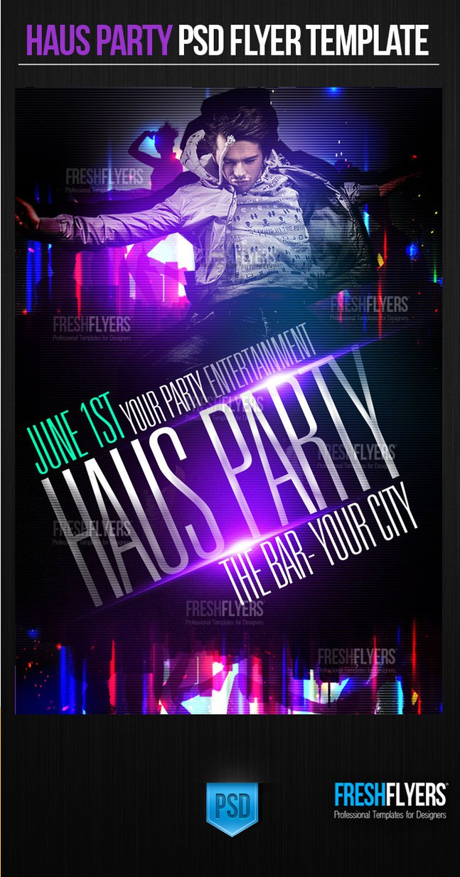 Birthday Party Flyer Templates Psd Free