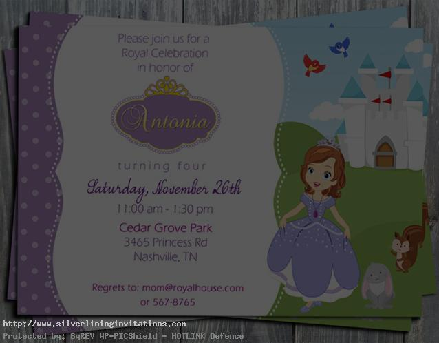 Birthday Party Scroll Invitations