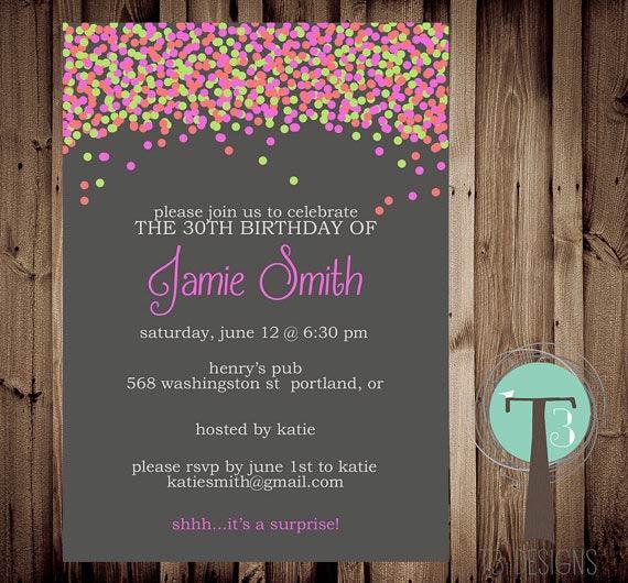 Birthday Soiree Invitation Wording