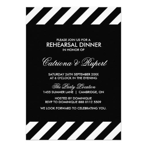 Black & White Invitation Templates