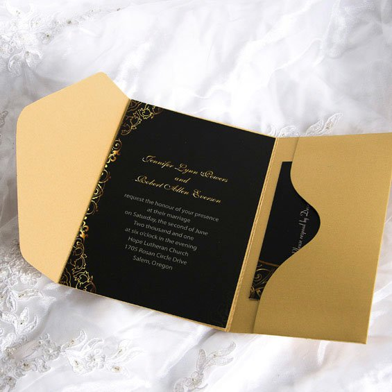 Black And Blue Wedding Invitation Kits