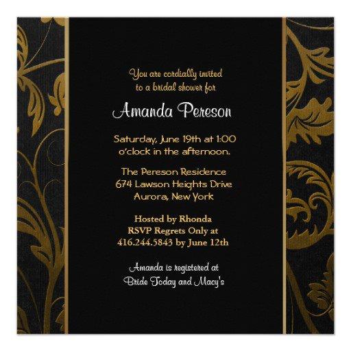 Black And Gold Invitation Paper