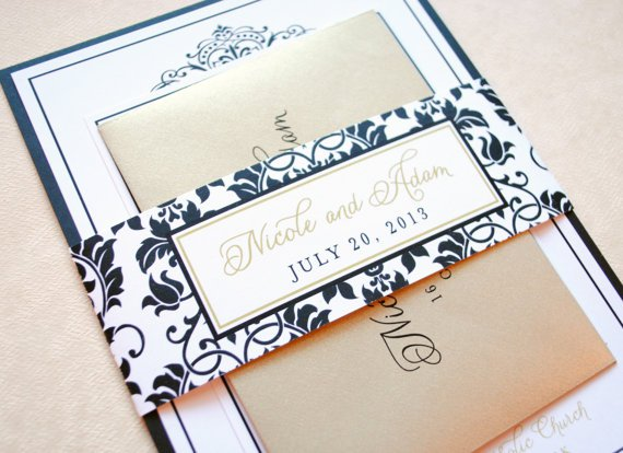 Black And Gold Wedding Invitations Uk
