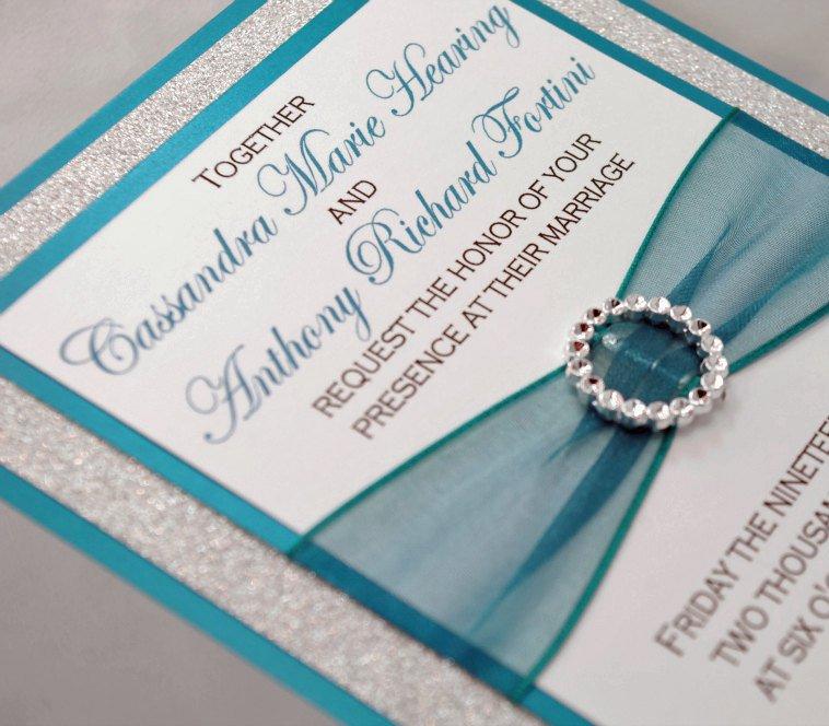 Black And Silver Wedding Invitation Kits