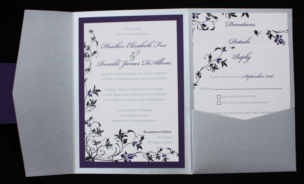Black And Silver Wedding Invitations Uk