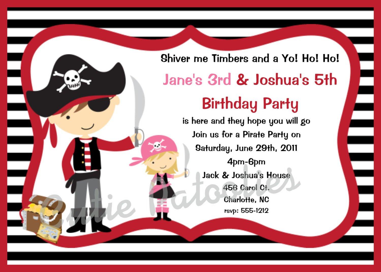 Black And White Birthday Invitations Free