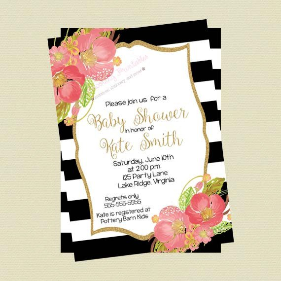Black And White Party Invitations Printable