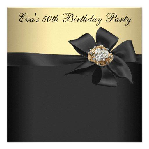 Black Birthday Party Invitations