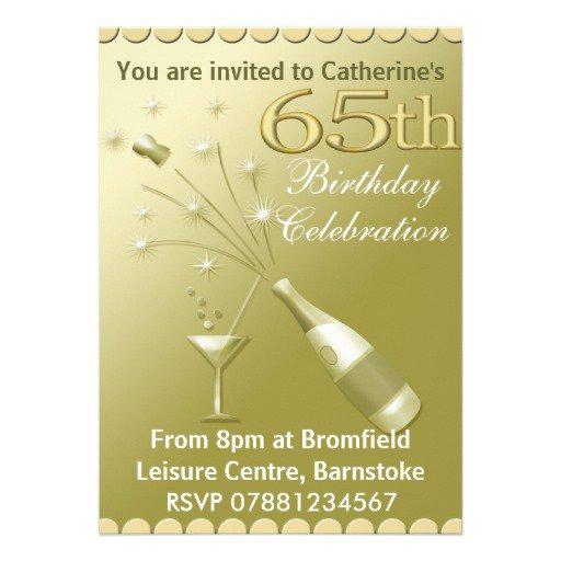 Black Gold Birthday Invitations