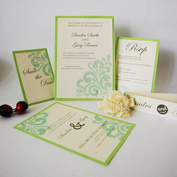 Black Ivory Wedding Invitation Kits