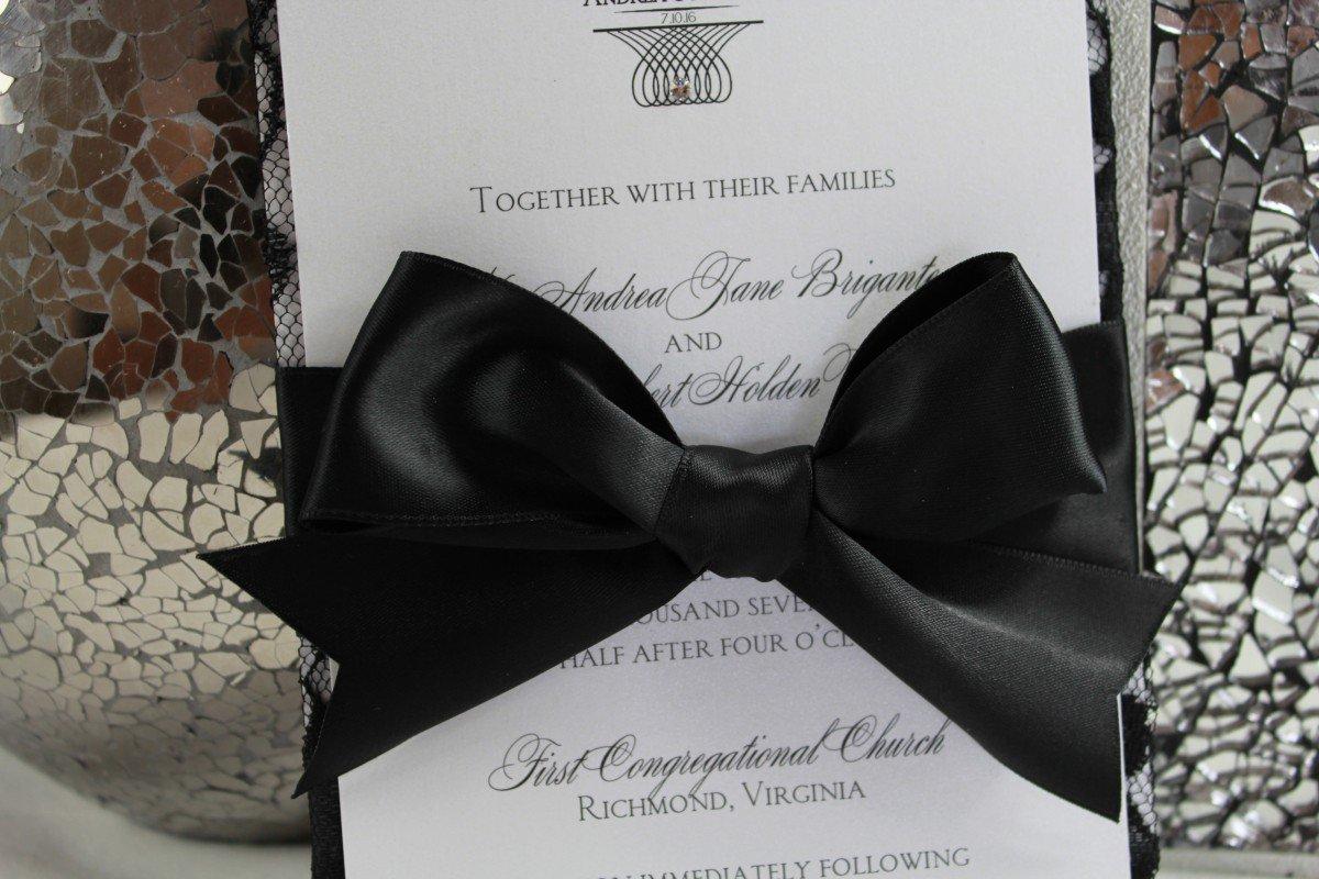 Black Luxury Wedding Invitations