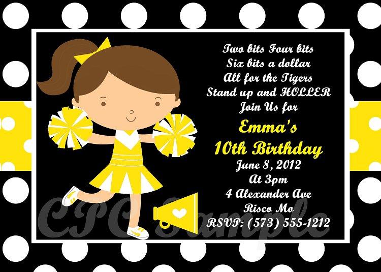 Black Tie Birthday Party Invitations