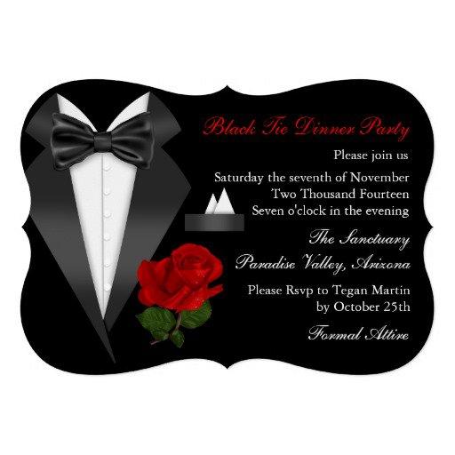 Black Tie Dinner Invitation
