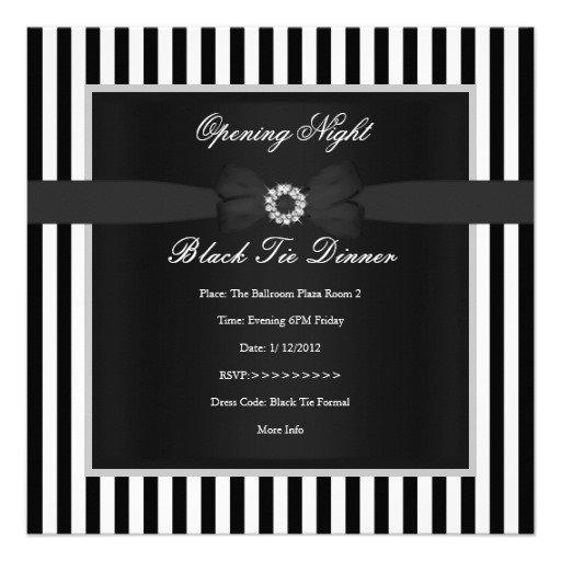 Black Tie Invitations Template