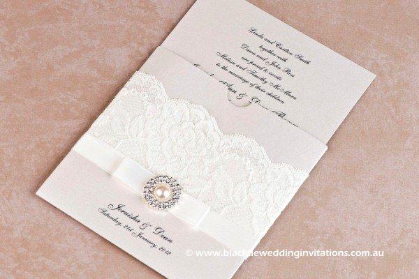 Black Tie Invitations With Diamonds