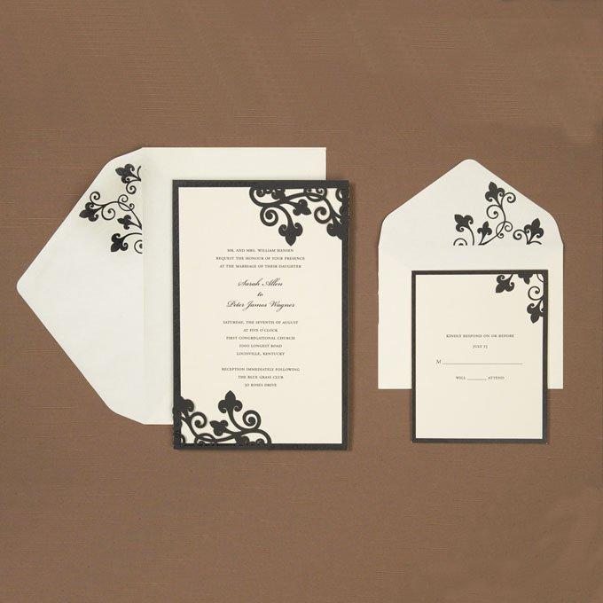 Black Wedding Invitation Kits