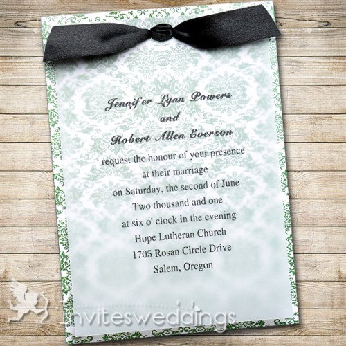 Black White And Blue Wedding Invitations