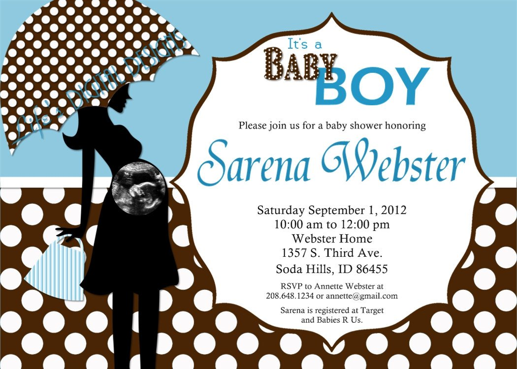 Black White Baby Shower Invitations