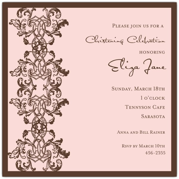 Blank Baptism Invitations Paper