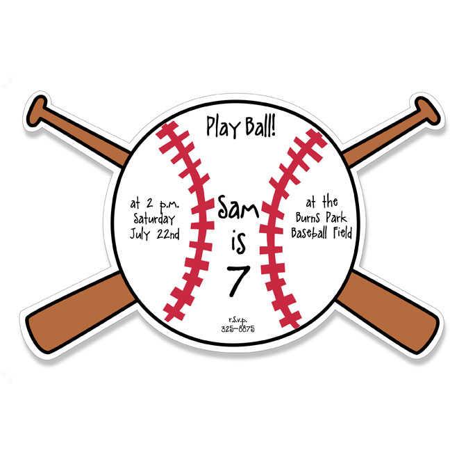 Blank Baseball Invitations