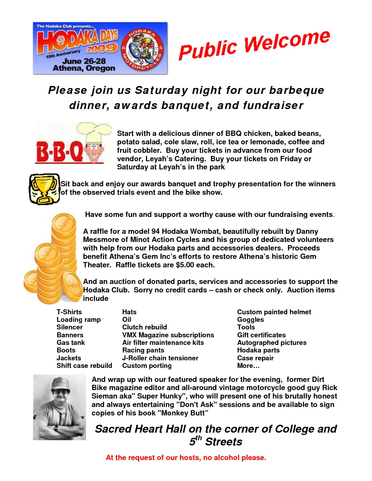Blank Bbq Fundraiser Invitations