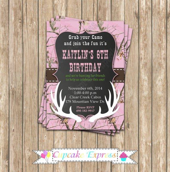 Blank Camo Invitations Printable