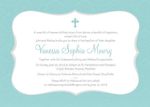 Blank Communion Invitations