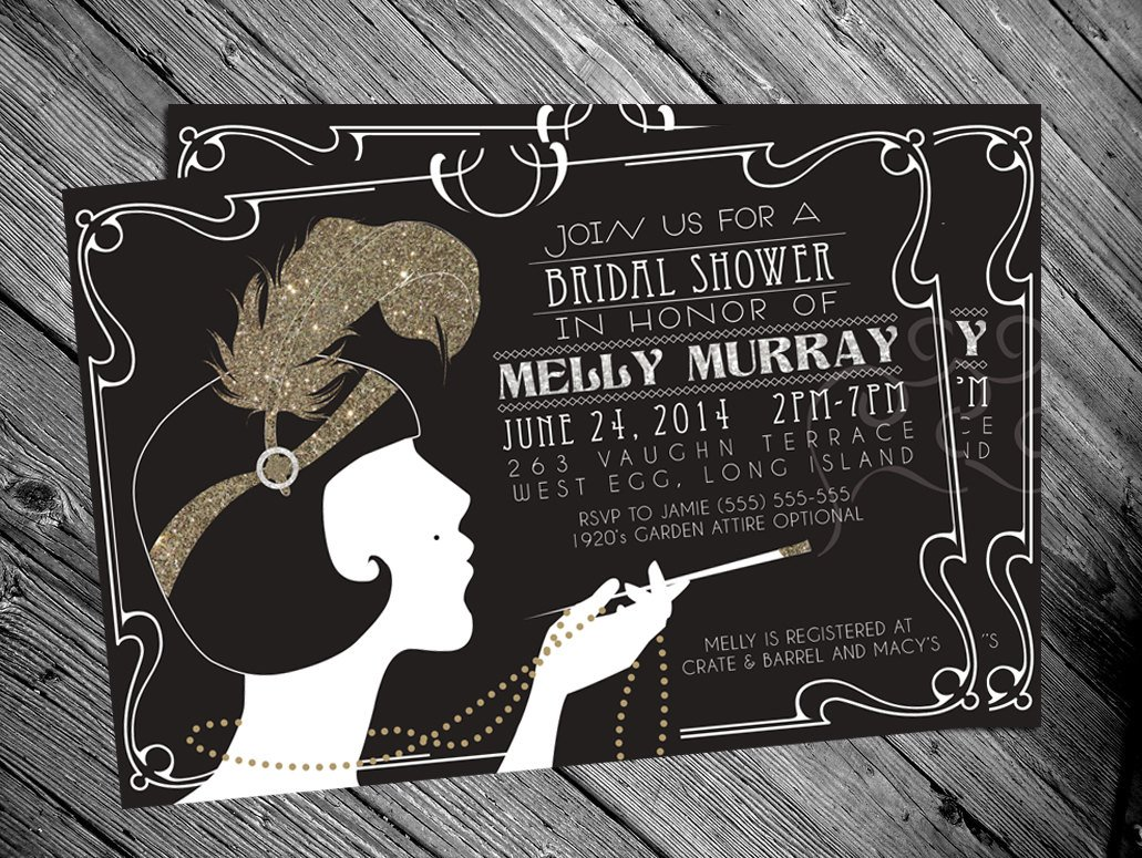 Blank Great Gatsby Invitation Template