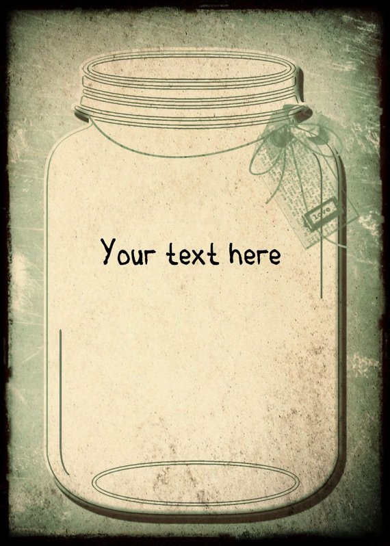 Blank Mason Jar Invitation Template