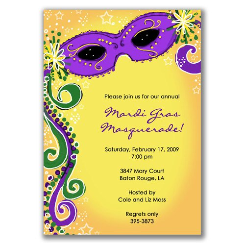 Blank Masquerade Invitations