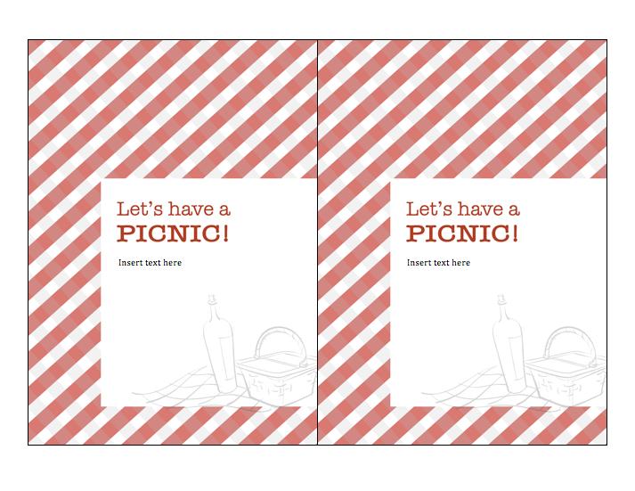 Blank Picnic Invitation Templates