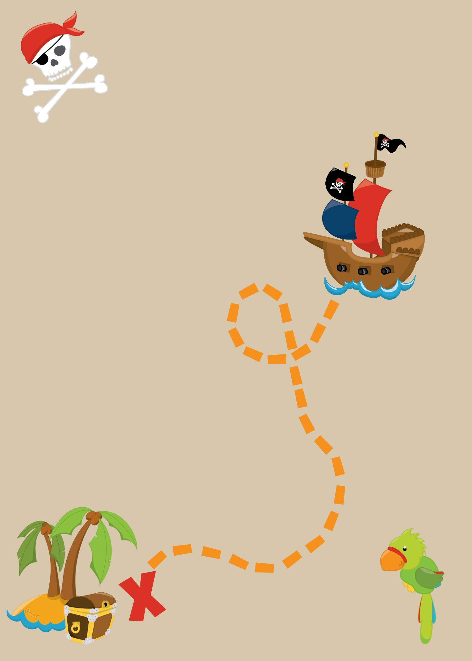 Blank Pirate Invitations