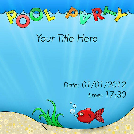 Blank Pool Invitation
