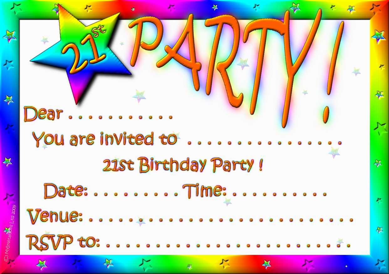 Blank Printable Invitation Templates