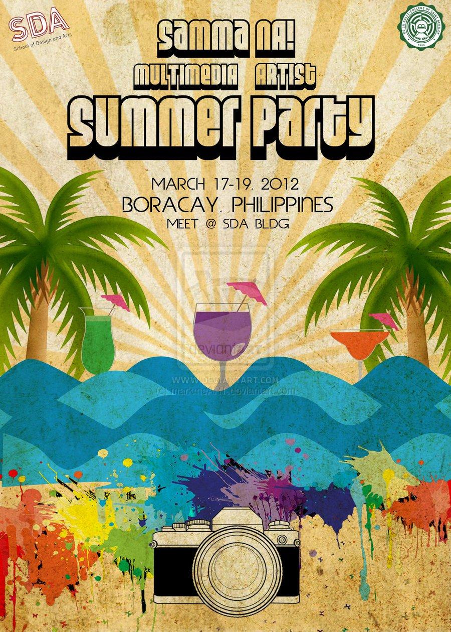 Blank Summer Party Invitations