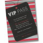 Blank Vip Pass Invitations