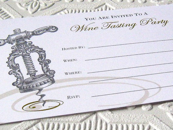 Blank Wine Tasting Invitation