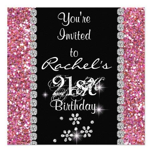 Bling Birthday Invitations