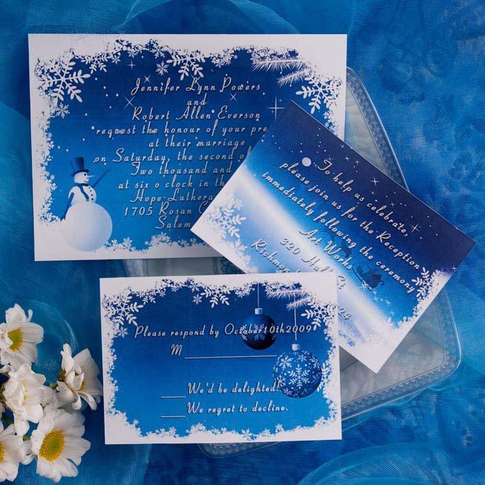 Blue And White Wedding Invitation Kits