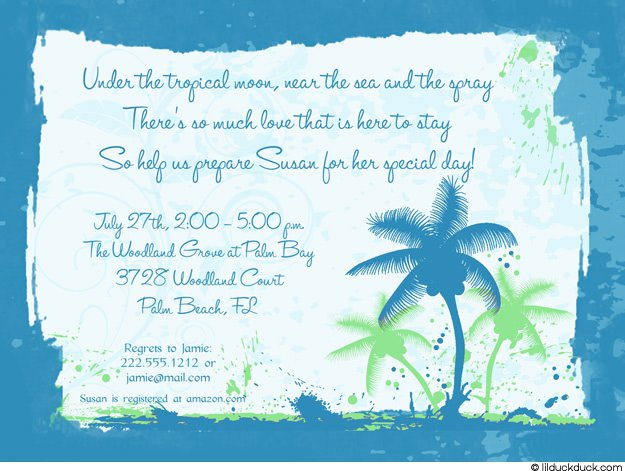Blue Girl Party Invitations
