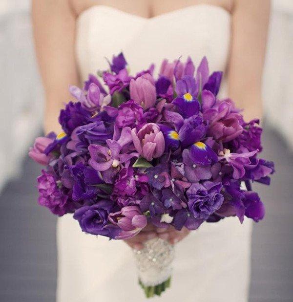 Blue Violet Wedding Invitations