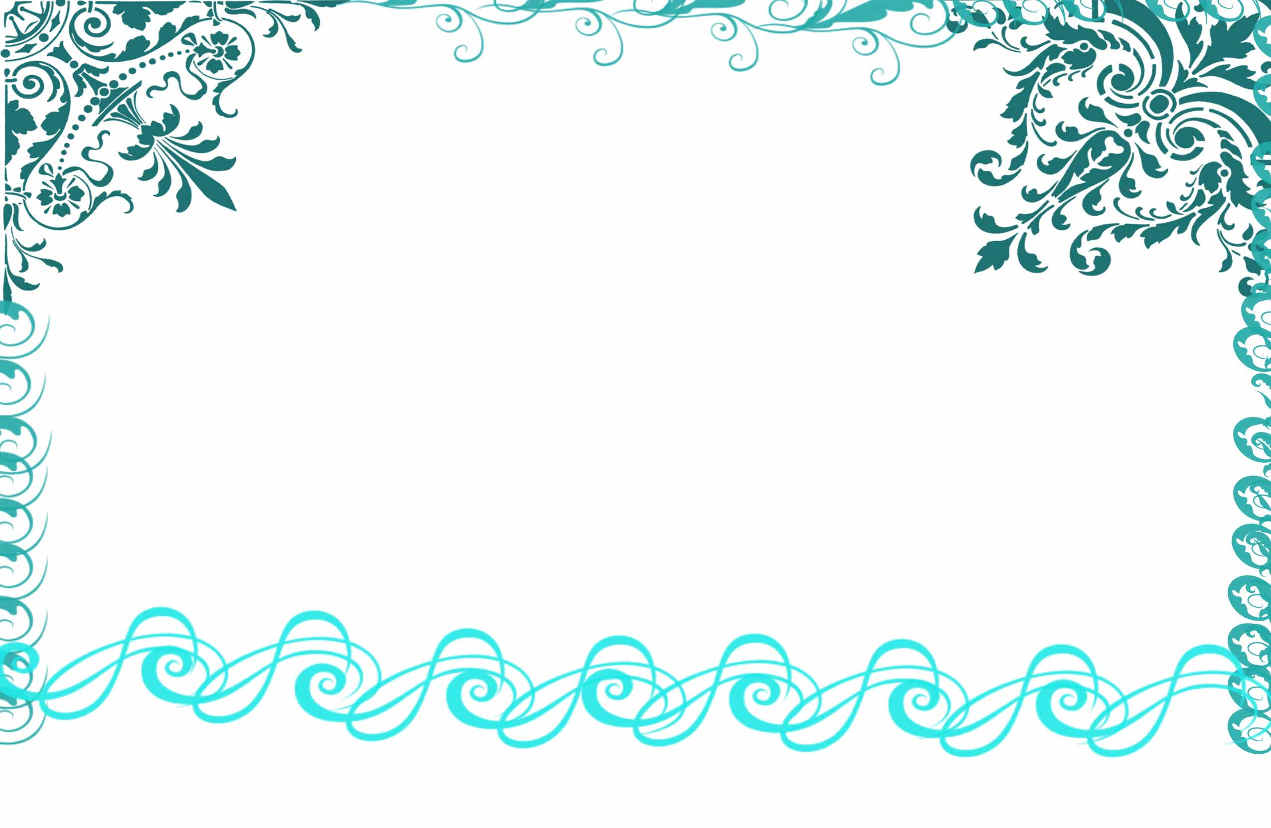 Blue Wedding Invitation Borders