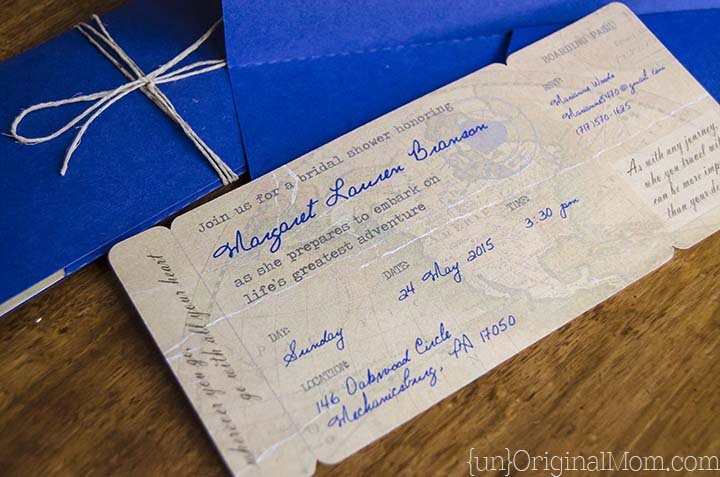Boarding Pass Wedding Invitations Diy