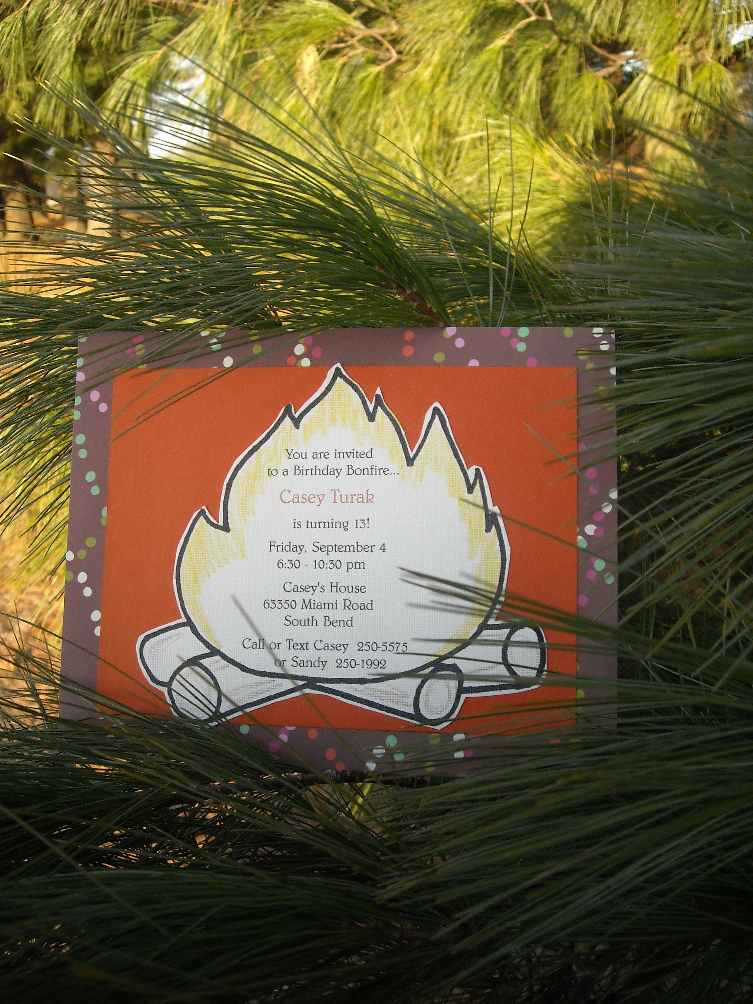 Bonfire Invitation Sayings