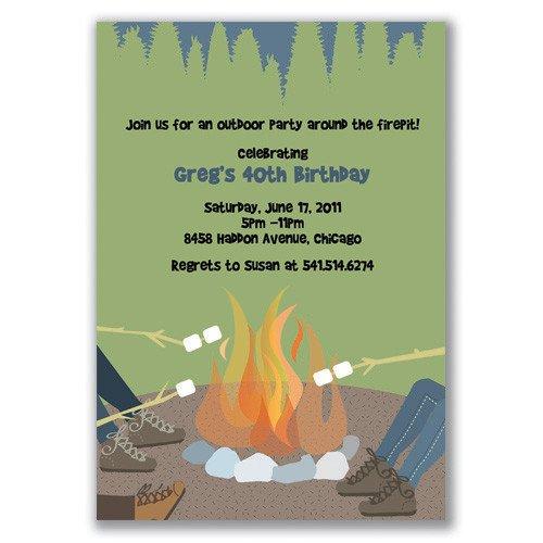 Bonfire Party Invitation Wording