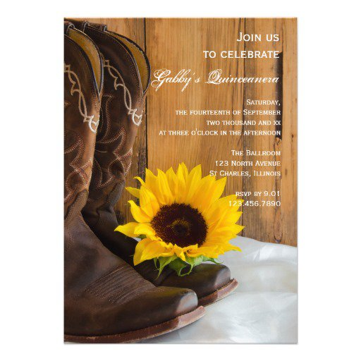 Boots Country Wedding Invitations