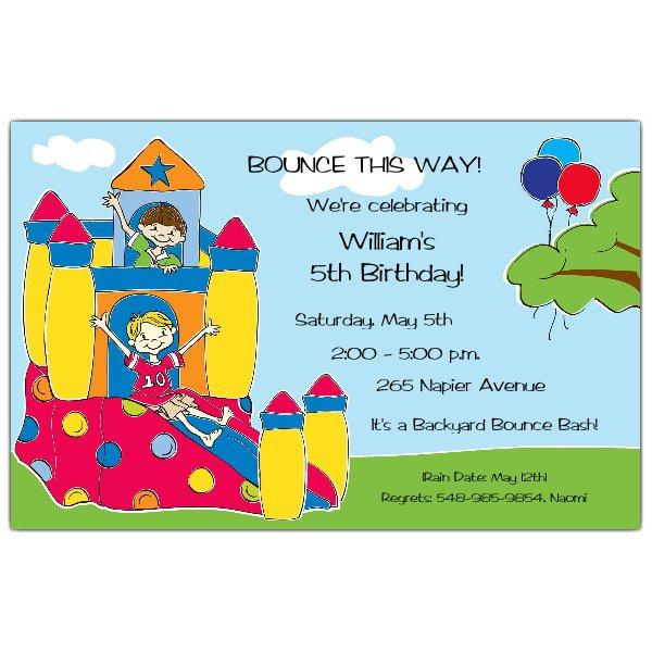 Bounce Birthday Invitations